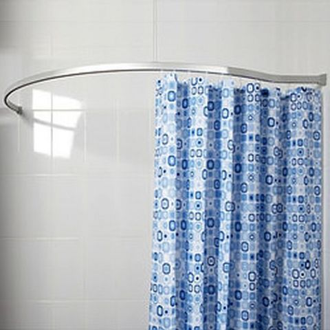 Croydex Bendy White Plastic Shower Rail - Cut to Size